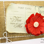 How-to video: A postcard and a flower