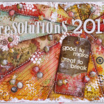 Art Journal Page: Resolutions 2013