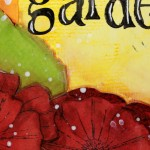 Art Journal page : I'd rather be in my garden