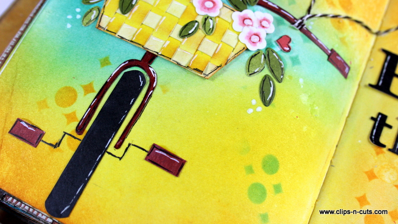 art journal spring bike