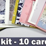 1 kit – 10 cards | July 2016 card kit