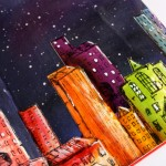 Art Journal | Night skyline