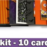 1 kit – 10 cards | SSS Halloween Card kit