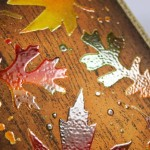 Autumn card using stencils