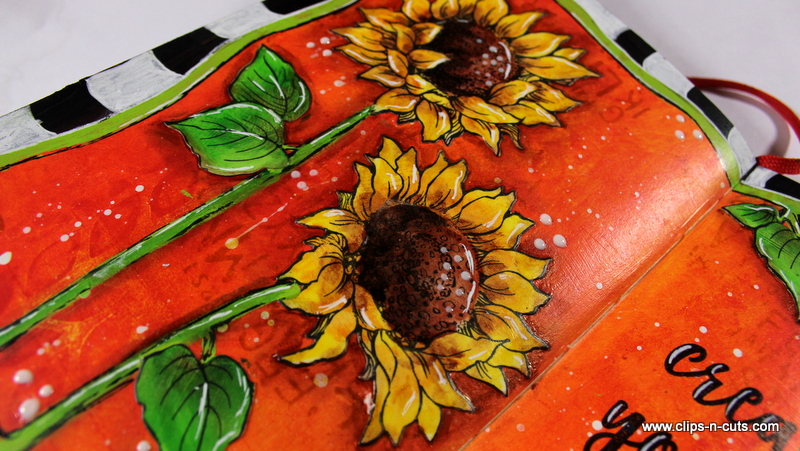 art journal sunflowers