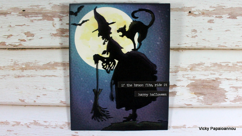 Today I Am Sharing A Halloween Card Using The Witch Die By Sizzix . It Was  Designed By Tim Holtz Along With Many More Dies For Halloween That I Will  Be ...