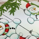 Snowman card | Stampendous
