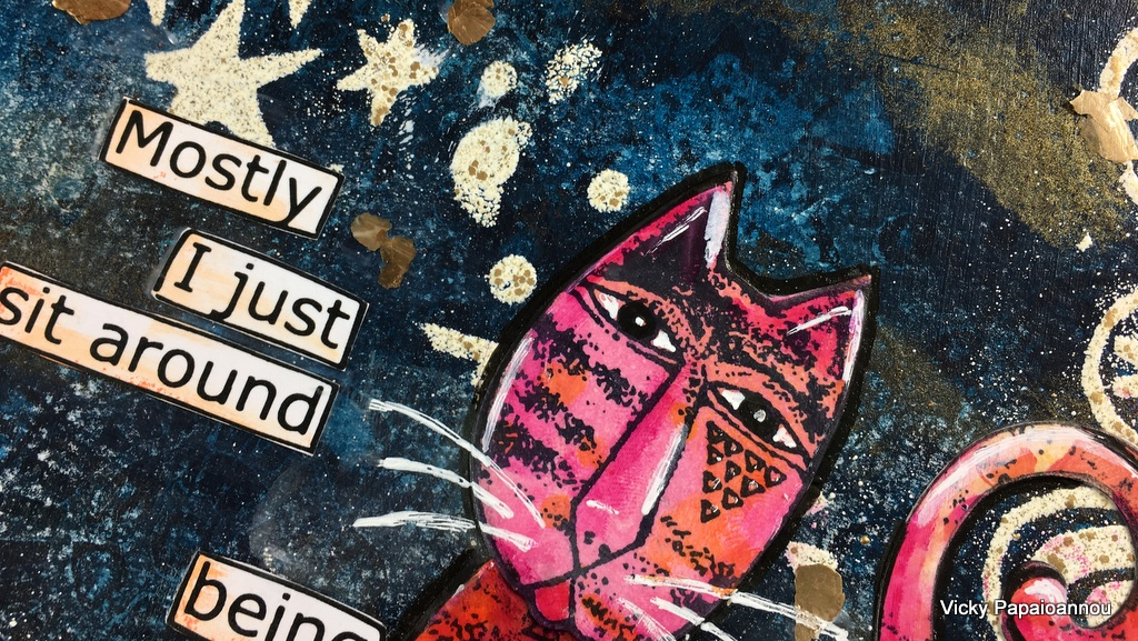 art journal tribal cats