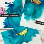alcohol ink backgrounds | 3 cards