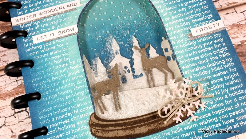 art journal snow globe
