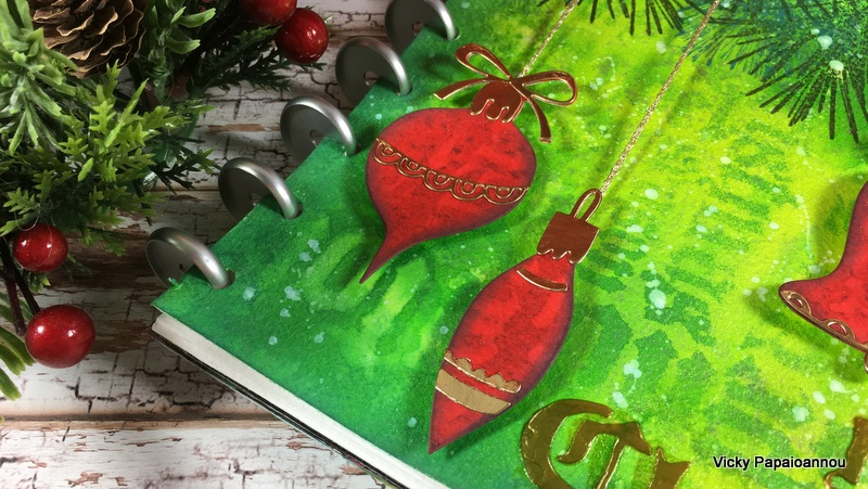 christmas art journal