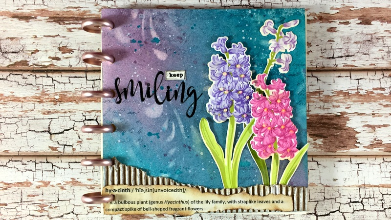 A year in flowers - hyacinth (art journal) | Clips-n-Cuts