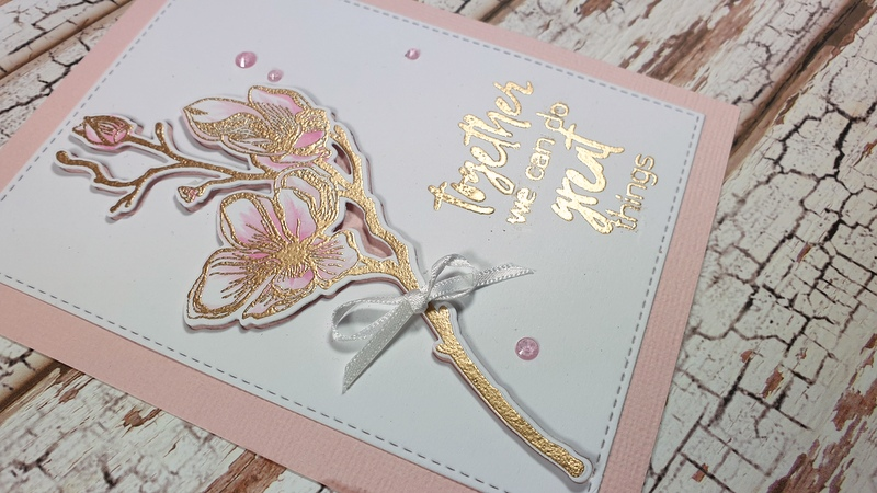 elegant flower card