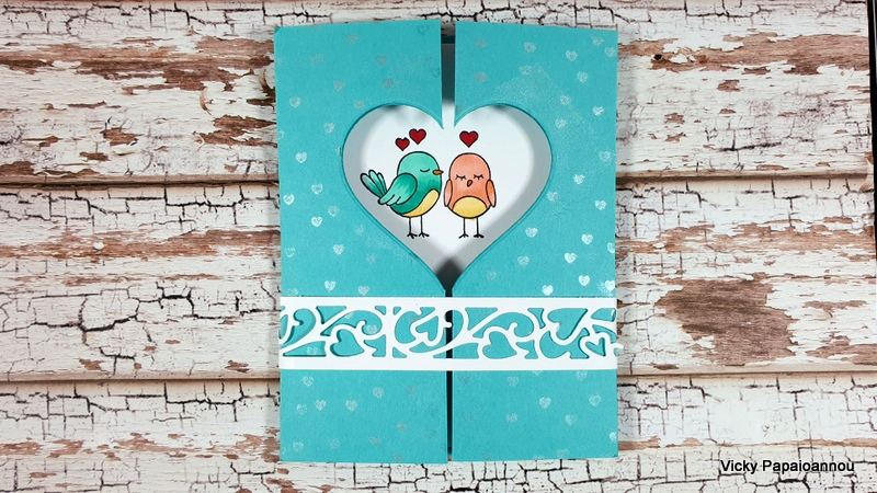 gate fold window card