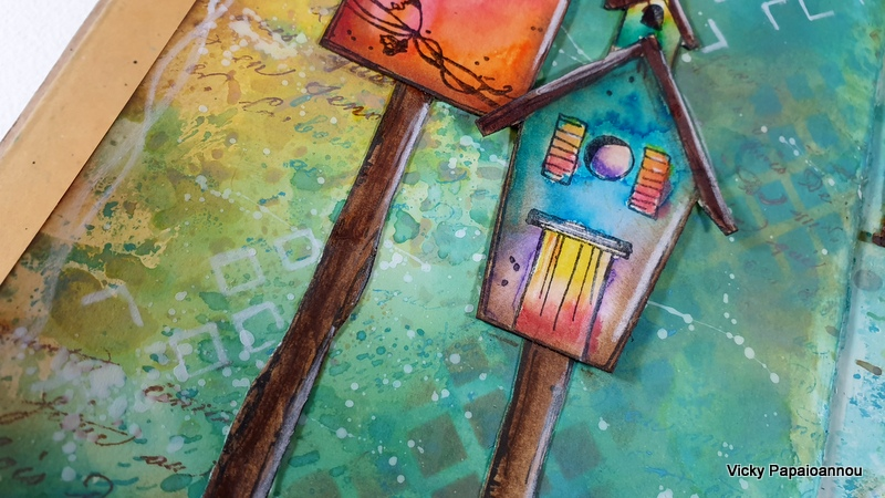 art journal birdhouses