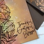foiled fall card